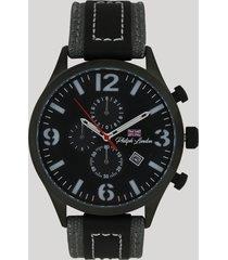 relógio cronógrafo philiph london masculino - pl80055612m preto