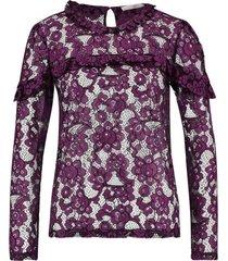 paars/zwarte dames blouse aaiko basha - 192924
