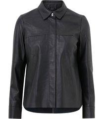 skinnskjorta anne leather shirt jacket