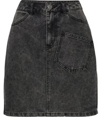 denim rok korte high-waist