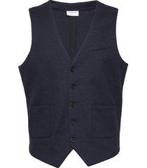 knitted waistcoat kostymväst blå lindbergh
