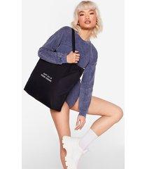 womens ray of fucking sunshine graphic tote bag - black