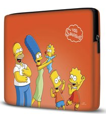 capa para notebook simpsons laranja 15 polegadas - vermelho - dafiti