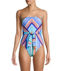 sunset graphic-print one-piece swimsuit