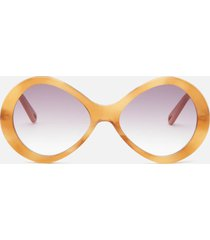 chloé women's oversized acetate sunglasses - light havana/gradient purple