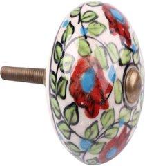 puxador- pashmina- puxador porta ceramica - vermelho - dafiti