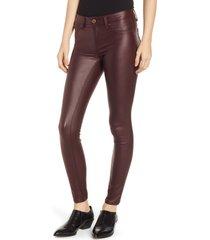 women's 1822 denim high waist coated skinny jeans, size 30 - red