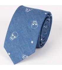 cravatta di denim cravatte per gli uomini sposo cranio pesce modello osso collo stretti cravatta cravatta di partito
