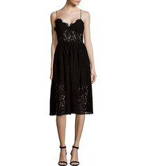 mesh lace knee-length dress