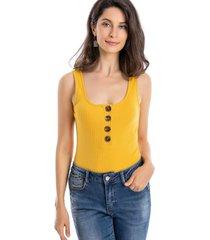 body acanalado botones amarillo nicopoly