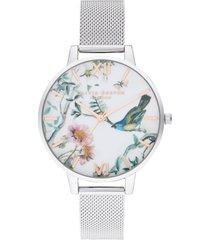 women's olivia burton painterly prints bracelet watch, 38mm