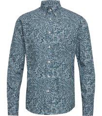 3d paisley poplin shirt overhemd casual blauw eton