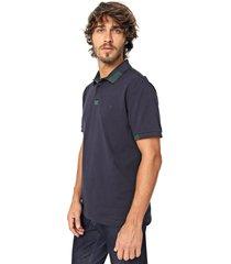 camisa polo forum reta azul-marinho - azul marinho - masculino - algodã£o - dafiti
