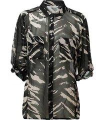 blouse tiger zwart