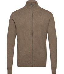 cosy jacket stickad tröja cardigan brun tom tailor