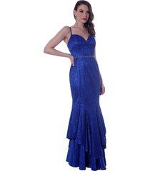 vestido gowara festa azul royal