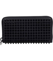 christian louboutin panettone wallet in black leather