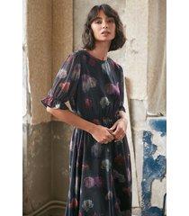 na-kd trend kortärmad chiffongklänning med blommigt tryck - multicolor