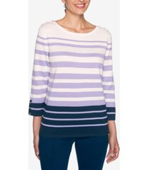 alfred dunner women's plus size wisteria lane striped sweater
