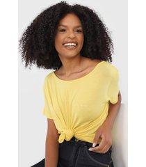 blusa colcci logo amarela