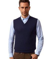 sweater sin mangas azul new man