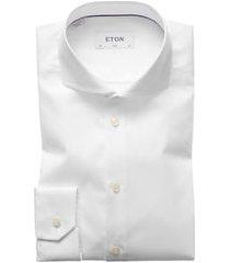 men's eton slim fit solid dress shirt, size 15.5 - white