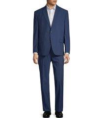 lauren ralph lauren men's classic fit wool suit - blue - size 44 r