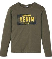 maglia a maniche lunghe (verde) - john baner jeanswear