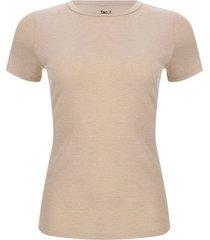 camiseta mujer lurex color beige, talla 10