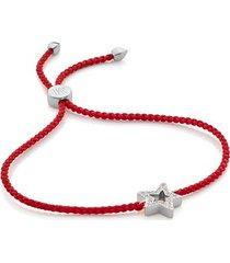 sterling silver alphabet star diamond friendship bracelet - limited edition diamond