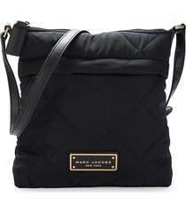 marc jacobs women's mini quilted crossbody bag - black