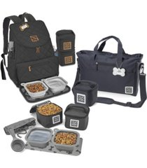 mobile dog gear bundle - day away backpack set, 17 piece
