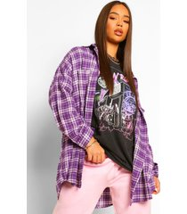 oversized flanneled shirt, purple