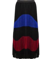 n.21 black silk-blend pleated skirt
