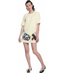 vestido corto amarillo pdhs