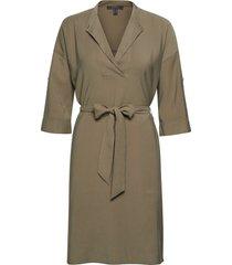 dresses light woven knälång klänning beige esprit collection