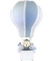 abajur balã£ozinho cintura urso azul quarto beb㪠infantil menino - azul - menino - dafiti