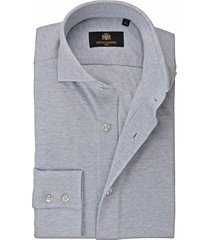 circle of gentlemen overhemd licht effen jersey pique slim fit