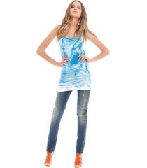 turquoise top - amy gee - t-shirts - blauw