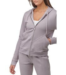 marc new york performance women's off duty french terry full-zip hoodie - violet - size l