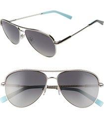 women's tiffany & co. 57mm polarized aviator sunglasses -