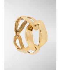 saint laurent chain-link design bracelet