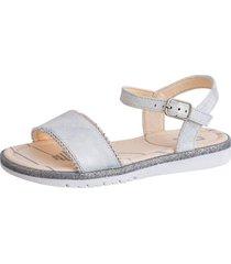 sandalia perlas blanca lag
