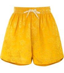 karen walker maple drawstring-waist shorts - yellow
