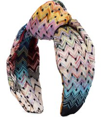 missoni knotted crochet-knit headband - multicolour