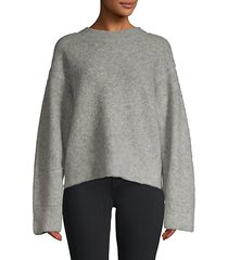 oversized pilling wool-blend pullover