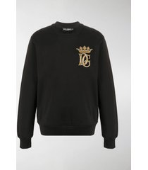 dolce & gabbana dg crown embroidered sweatshirt