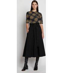 proenza schouler wool twill belted midi skirt black 12