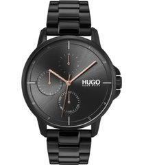 hugo men's #focus black stainless steel bracelet watch 42mm