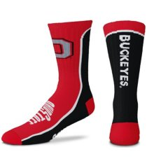 for bare feet men's ohio state buckeyes v-curve 2.0 socks